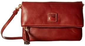 Dooney & Bourke Florentine Classic Fold-Over Zip Crossbody Cross Body Handbags - BONE W/ SELF TRIM - STYLE