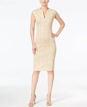 Connected Jacquard Sheath Dress