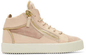 Giuseppe Zanotti Pink May London High-Top Sneakers