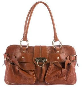 Burberry Leather Shoulder Bag - BROWN - STYLE