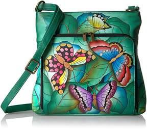 Anuschka Anna by Women's Genuine Leather Convertible Shoulder Handbag | Hand Painted Original Artwork | Zip-Top Crossbody |