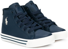 Ralph Lauren Kids high-top lace-up sneakers