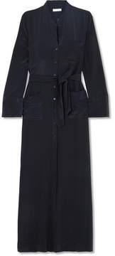 Equipment Britten Silk-crepe Maxi Dress - Midnight blue
