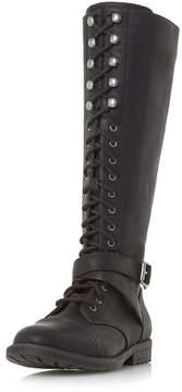 Head Over Heels *Head Over Heels by Dune 'Tibboe' Black Flat Boots