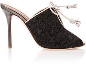 Malone Souliers Dawn Leather-Trimmed Cutout Sandals
