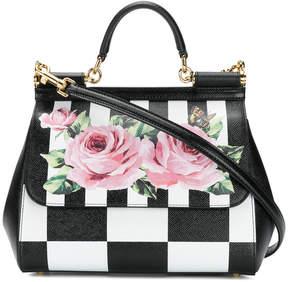 Dolce & Gabbana Sicily checkered shoulder bag