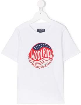 Woolrich Kids logo bottle cap print T-shirt