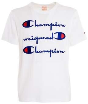 Champion Men's White Cotton T-shirt.