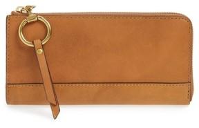 Frye Women's Large Ilana Harness Leather Zip Wallet - Brown