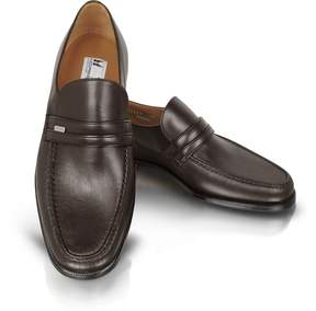 Moreschi Monaco Wide Brown Leather Loafers