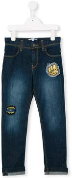 Little Marc Jacobs patch detailed jeans