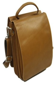 Piel Leather DOUBLE FLAP-OVER SHOULDER BAG