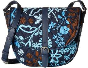 Vera Bradley Slim Saddle Bag Handbags - JAVA FLORAL - STYLE