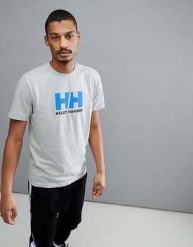 Helly Hansen Logo T-Shirt In Light Gray