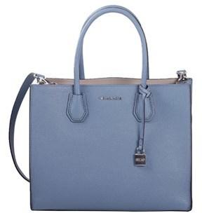 Michael Kors Women's Blue Leather Shoulder Bag. - BLUE - STYLE