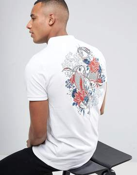 Brave Soul Back Embroidered Polo