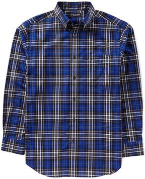 Roundtree & Yorke Superior Touch Long-Sleeve Large Plaid Sportshirt