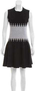 Alaia Fit and Flare Striped Dress
