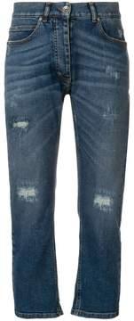 Eleventy distressed straight-leg jeans