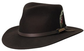 Scala Men's 'Classico' Crushable Felt Outback Hat - Brown