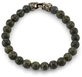 Scott Kay 925 Sterling Silver with Green Jasper Beaded Bracelet