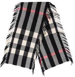 Burberry Cashmere Fringe Scarf w/ Tags
