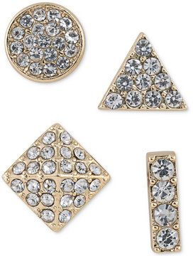 ABS by Allen Schwartz Gold-Tone 4-Pc. Set Mixed Pave Stud Earrings