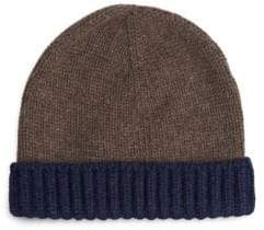 Loro Piana Berretto Denver Two-Tone Cashmere Beanie