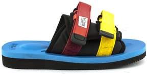 Suicoke Moto-viebu Black Cow Leather Sandals.