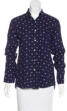 Steven Alan Embroidered Button-Up Top