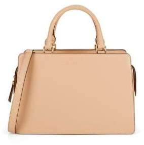 Donna Karan Rina Top Zip Leather Satchel Bag