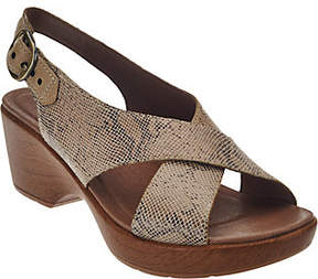 Dansko Leather Criss Cross Strap Sandals -Jacinda