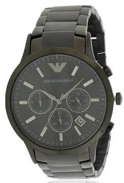 Giorgio Armani Emporio Black Stainless Steel Chronograph Mens Watch AR2453