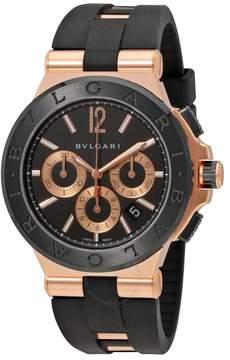Bvlgari Diagono Black Dial Chronograph Men's Watch