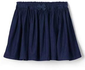Lands' End Lands'end Girls Gathered Chambray Skirt