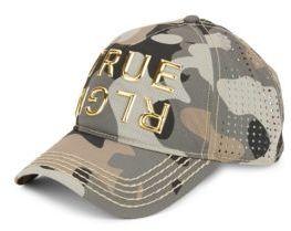 True Religion Perforated Camo-Print Basketball Cap