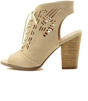 Restricted Laser Cut Tie Heels