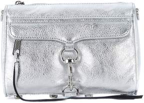 Rebecca Minkoff Mini M.a.c. Silver Laminated Leather Shoulder Bag. - ARGENTO - STYLE