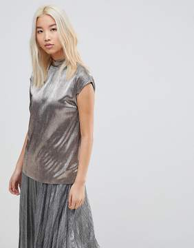 B.young High Neck Textured Top