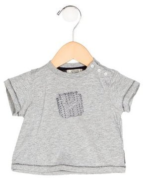 Armani Junior Boys' Logo Print Short Sleeve Shirt