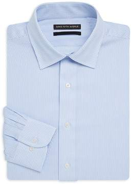 Saks Fifth Avenue BLACK Men's Pinstripe Slim-Fit Cotton Dress Shirt