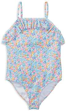 Polo Ralph Lauren Girls' Ruffled Floral Swimsuit - Little Kid