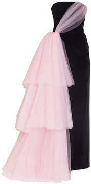Christian Siriano Tiered Tulle Strapless Gown