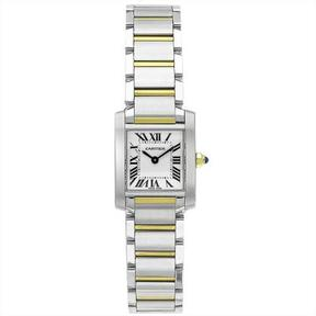 Cartier Tank Collection W51007Q4 Women's Stainless Steel Watch