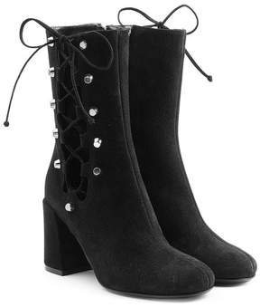 McQ Suede Boots with Lace-Up Sides