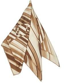 Celine Pre-owned: Stripes Silk Scarf.