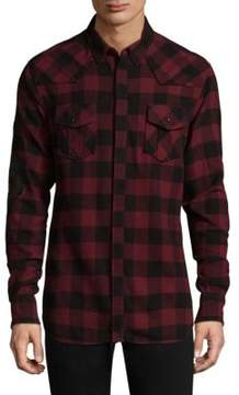 Pierre Balmain Dragon Sleeve Cotton Button-Down Shirt