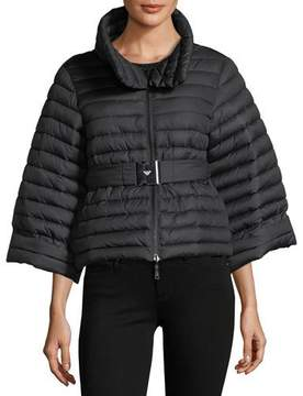 Emporio Armani Cyber Underwater Reversible Quilted Cropped Puffer Jacket