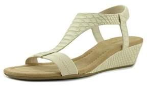 Alfani Vacanzaa Open Toe Synthetic Wedge Sandal.