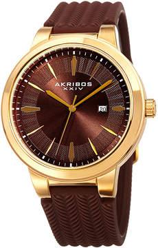 Akribos XXIV Mens Brown Bracelet Watch-A-1007ygbr